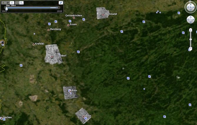 Google Earth ļauj ielūkoties pagātnē