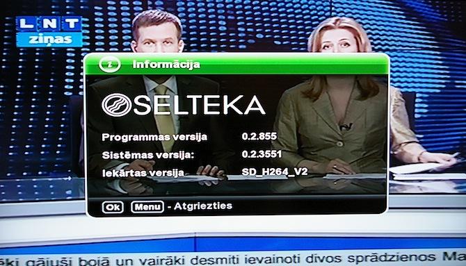 Tests: digitālās virszemes televīzijas dekoderi Selteka TC-402