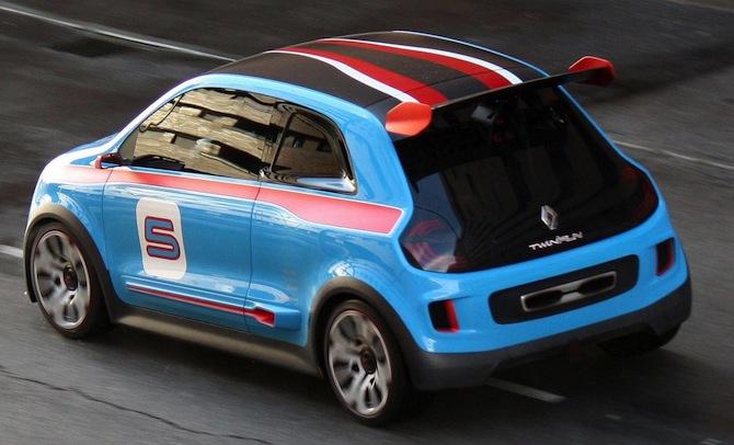 Maza, zila raķete - Renault TwinRun