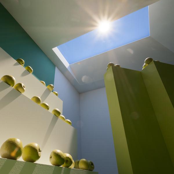 Viltus saule viltus jumta logā
