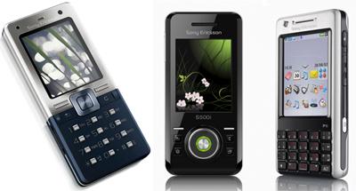 Tr�s siv�nti�i - jaunie Sony Ericsson T650, S500 un P1