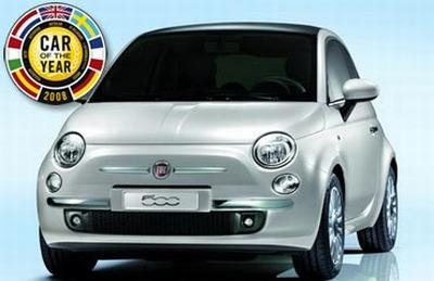 Eiropas gada auto 2008 ir Fiat 500