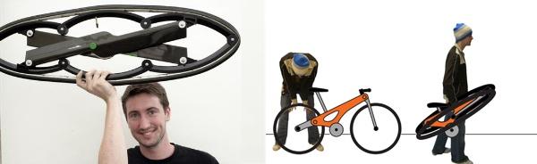Salokāmais velosipēds, salokāmie riteņi