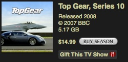 Top Gear 10. sezona nopērkama iTunes