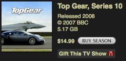 Top Gear 10. sezona nopērkama iTunes