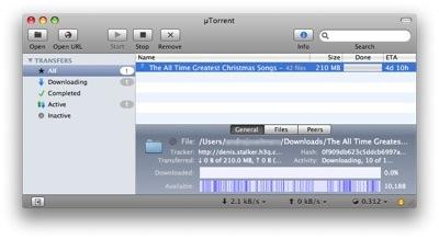 µTorrent tagad arī priekš Mac