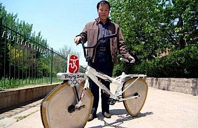 Ķīnietis izgudro jaunu velosipēdu