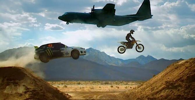 Ken Block satiek Top Gear un atkal brauc pārāk ātri un neticami precīzi