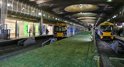 Zaļā dzelzceļa stacija Jaunzēlandē
