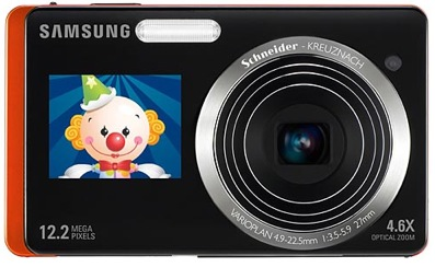 Samsung fotokameras ar diviem ekrāniem, Bluetooth un GPS