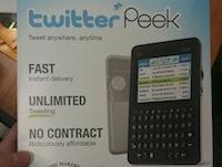 Twitter Peek - ierīce tikai tvītošanai