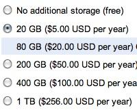 Google dramatiski samazina diska vietas cenas