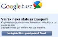 Google Buzz ir jaunais melnais