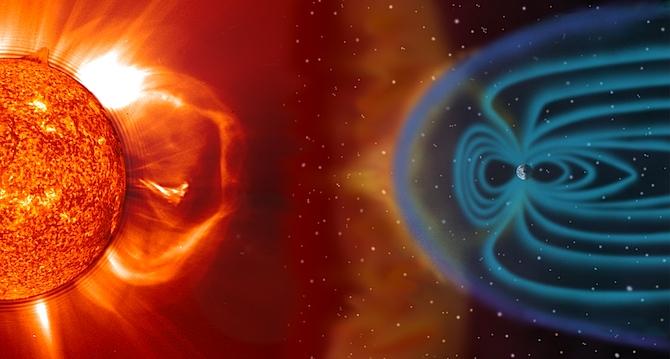 Kā saule ietekmē zemes magnētisko lauku