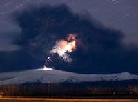 Iestrēdzis vulkāna putekļos