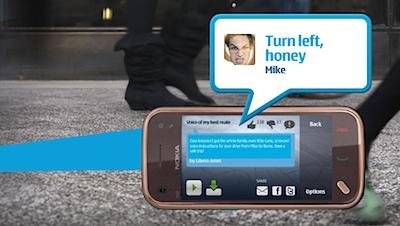 Uzmanies no velosipēdista, Ričard [Nokia ļauj pašam ierunāt navigācijas komandas]