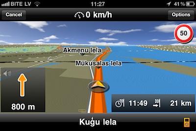 50% atlaide Navigon iPhone navigācijai