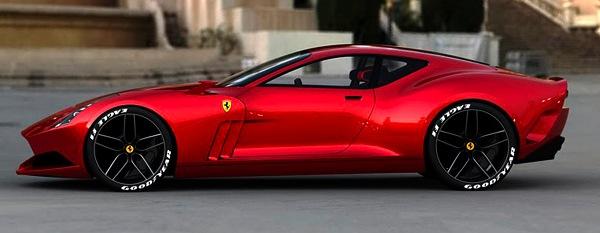 Ferrari 612 GTO Concept - sarkanais niknais