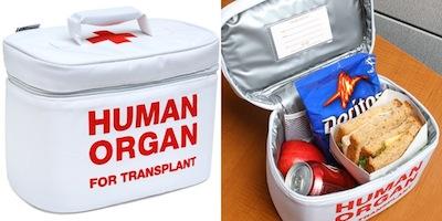 Orgānu donora pusdienu somiņa