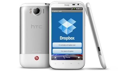 HTC viedtālruņu lietotājiem dāvinās 5GB Dropbox krātuvē