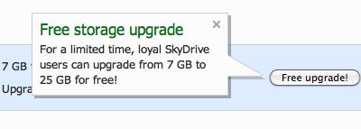 SkyDrive jaunumi; piesakies uz bezmaksas 25GB