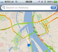 Google kartes tagad arī Latvijā rāda satiksmes informāciju
