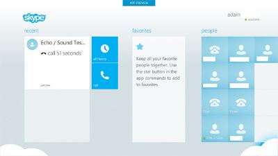 Noplūdis Skype priekš Windows 8