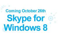 Skype priekš Windows 8