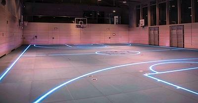 Stikla grīda sporta zālē? O, jā!