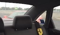 Skaties kā nevajag braukt ar Ferrari