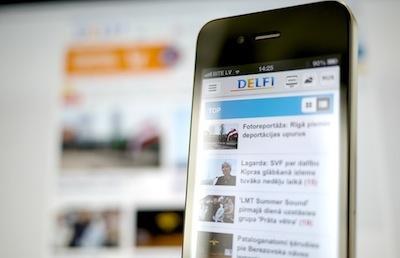 Delfi laiž gaisā jaunu, foršu mobilo versiju