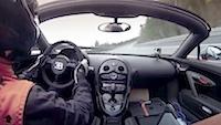 Lūk, kā izskatās 408 km/h ar kabrioletu