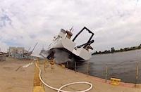 Kuģa laišana ūdenī nebeidzas labi