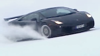 Video: Ar Lamborghini pa slēpošanas trasi!