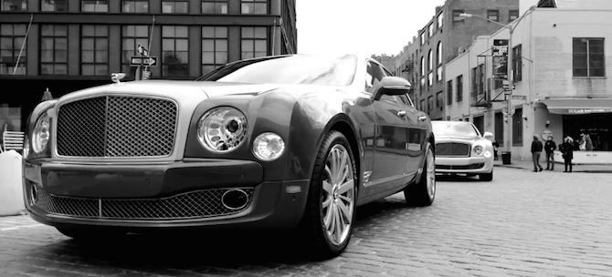 Bentley uzņem reklāmu ar iPhone